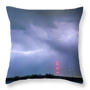 Lightning Bolting Across The Sky Throw Pillow