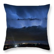 Lightning Cloud Burst Throw Pillow