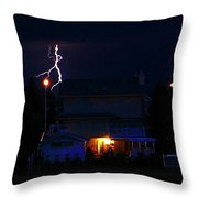 Lightning Disco Moves Throw Pillow