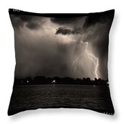 Lightning Energy Poster Print Throw Pillow