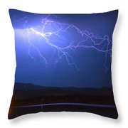 Lightning From Heaven Throw Pillow