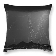 Lightning Long Exposure Throw Pillow