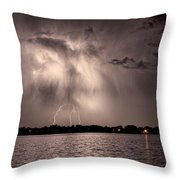 Lightning Man Throw Pillow