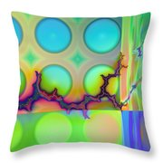 Lightning Path Throw Pillow