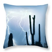 Lightning Storm Chaser Payoff Throw Pillow