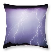 Lightning Storm North Scottsdale Az 85255 Throw Pillow