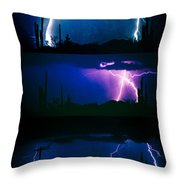 Lightning Storm Progression Throw Pillow