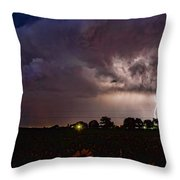 Lightning Stormy Weather Of Sunflowers Throw Pillow
