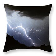 Lightning Strike Bump In The Road Throw Pillow
