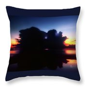 Lightning Strike Sunset Throw Pillow