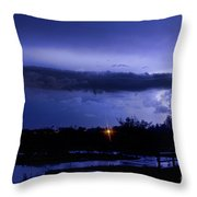 Lightning Thunderstorm July 12 2011 St Vrain Throw Pillow
