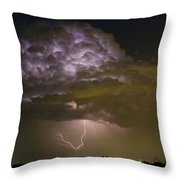 Lightning Thunderstorm With A Hook Throw Pillow
