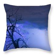 Lightning Tree Silhouette 38 Throw Pillow