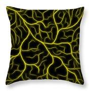 Lightning - Yellow Throw Pillow