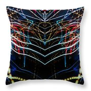 Lightpainting Panorama Print Photograph 3 Throw Pillow