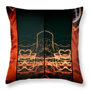 Lightpainting Quads Art Print Photograph 1 Throw Pillow