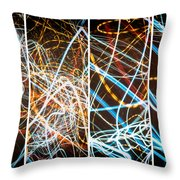 Lightpainting Quads Art Print Photograph 3 Throw Pillow