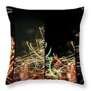 Lightpainting Quads Art Print Photograph 5 Throw Pillow