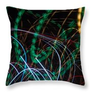 Lightpainting Single Wall Art Print Photograph 1 Throw Pillow