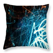 Blue Fuzz Of Depth Throw Pillow