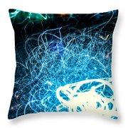 Neon Fuzz Ball Throw Pillow