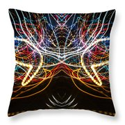 Lightpainting Symmetry Wall Art Print Photograph 1 Throw Pillow
