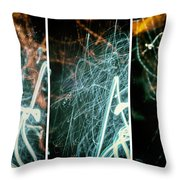 Fusion Of Three Throw Pillow