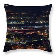 Lights Across Birmingham Throw Pillow