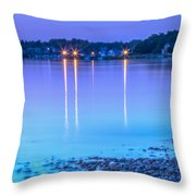 Lights Across The Bay Throw Pillow
