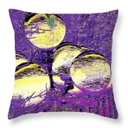 Lights Along The Way 4 Throw Pillow