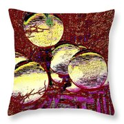 Lights Along The Way 5 Throw Pillow