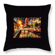 Lights And Shadows Of Amsterdam Throw Pillow