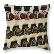 Lights And Switches Throw Pillow