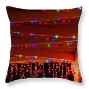 Lights At Christmas Throw Pillow