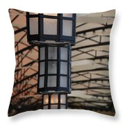 Lights At City Place Throw Pillow