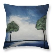 Lights At Midnight Throw Pillow