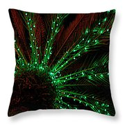 Lights Beneath The Fronds Throw Pillow