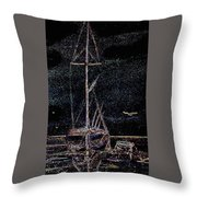 Lights By Night Throw Pillow