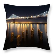 Lights By The Bay Throw Pillow