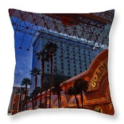 Lights In Down Town Las Vegas Throw Pillow