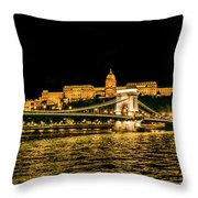 Lights Of Budapest Throw Pillow