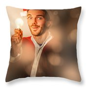 Lights Of Christmas Ideas Throw Pillow