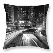 Lights Of Hong Kong Throw Pillow
