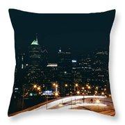 Lights Of Philadelphia Throw Pillow