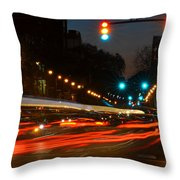 Lights Of The City Throw Pillow