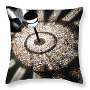 Lights Of The Night By Karen E. Francis Throw Pillow