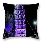 Lights Of The World Leaning Tower Of Pisa Throw Pillow