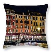 Lights Of Venice Throw Pillow
