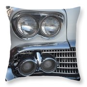 Lights On A '58 Chevy Throw Pillow