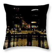 Lights On History Throw Pillow